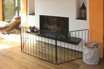Lienbacher Ochranná zástěna skládací 3-stěny  112 cm střed,  84 cm boky,  výška 74cm