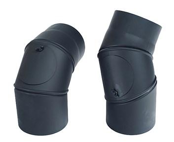 Koleno nastavitelný úhel 0-90° / 120mm/1,5mm  čistící