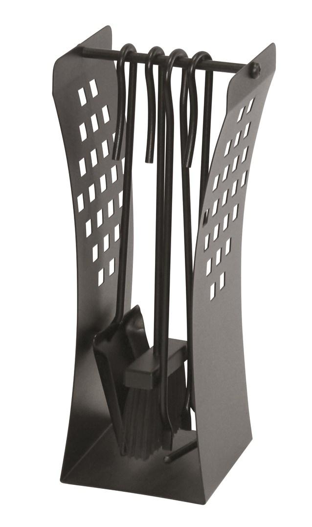 Lienbacher Moderní krbové nářadí černé  š/h/v - 20/14/43cm