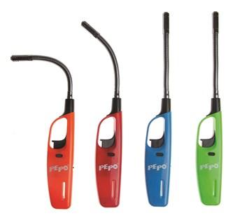 PE-PO větruodolný flexi zapalovač s turbo koncovkou