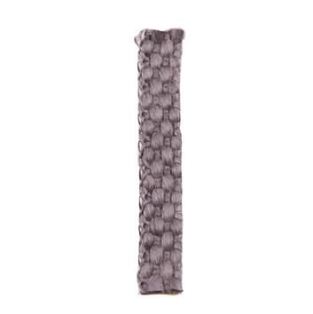 Těsnící pásek-samolepící, plochý, pletený černý  8x2mm  Teplotní odolnost do 550°C