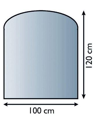 Lienbacher Sklo pod krbová kamna půloblouk  120x100 cm s fazetou 20 mm síla skla 8 mm