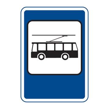 Dopravní značka IJ4e - Zastávka trolejbusu