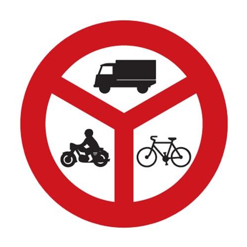 Dopravní značka - Zákaz vjezdu vyznačených vozidel