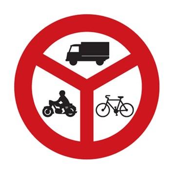 Dopravní značka B12 - Zákaz vjezdu vyznačených vozidel