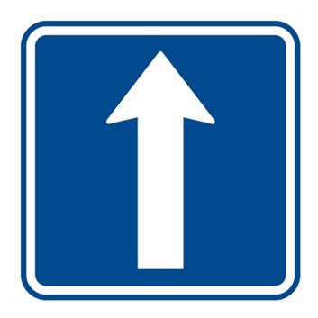 Dopravní značka IP4b - Jednosměrný provoz