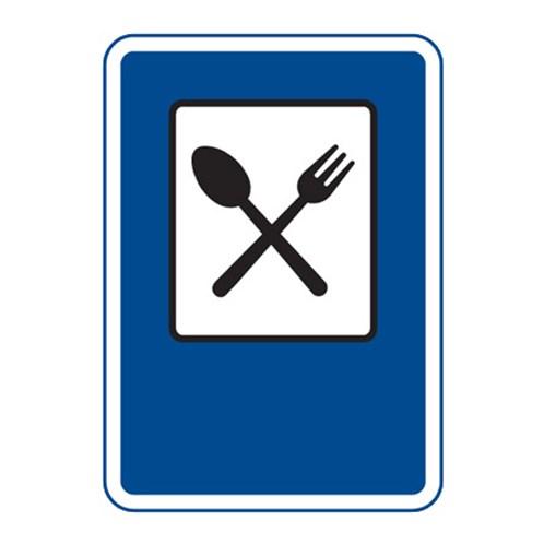 Dopravní značka - Restaurace, 500 x 700mm