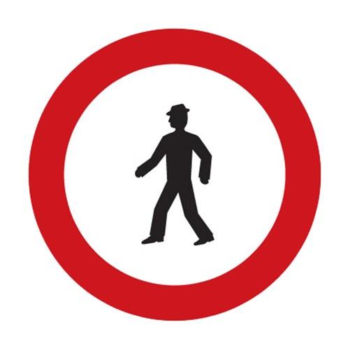 Dopravní značka - Zákaz vstupu chodců, 500mm