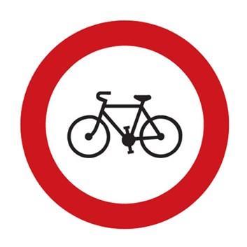 Dopravní značka B8 - Zákaz vjezdu jízdních kol