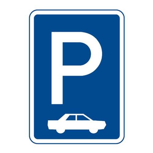 Dopravní značka - Parkoviště (kolmé nebo šikmé stání), 500 x 700mm