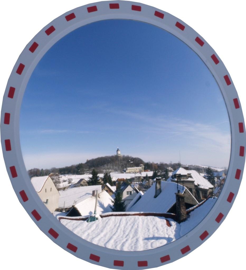 Nerozbitné dopravní zrcadlo 900 mm. Certifikováno pro pozemní komunikace Ministerstvem dopravy.
