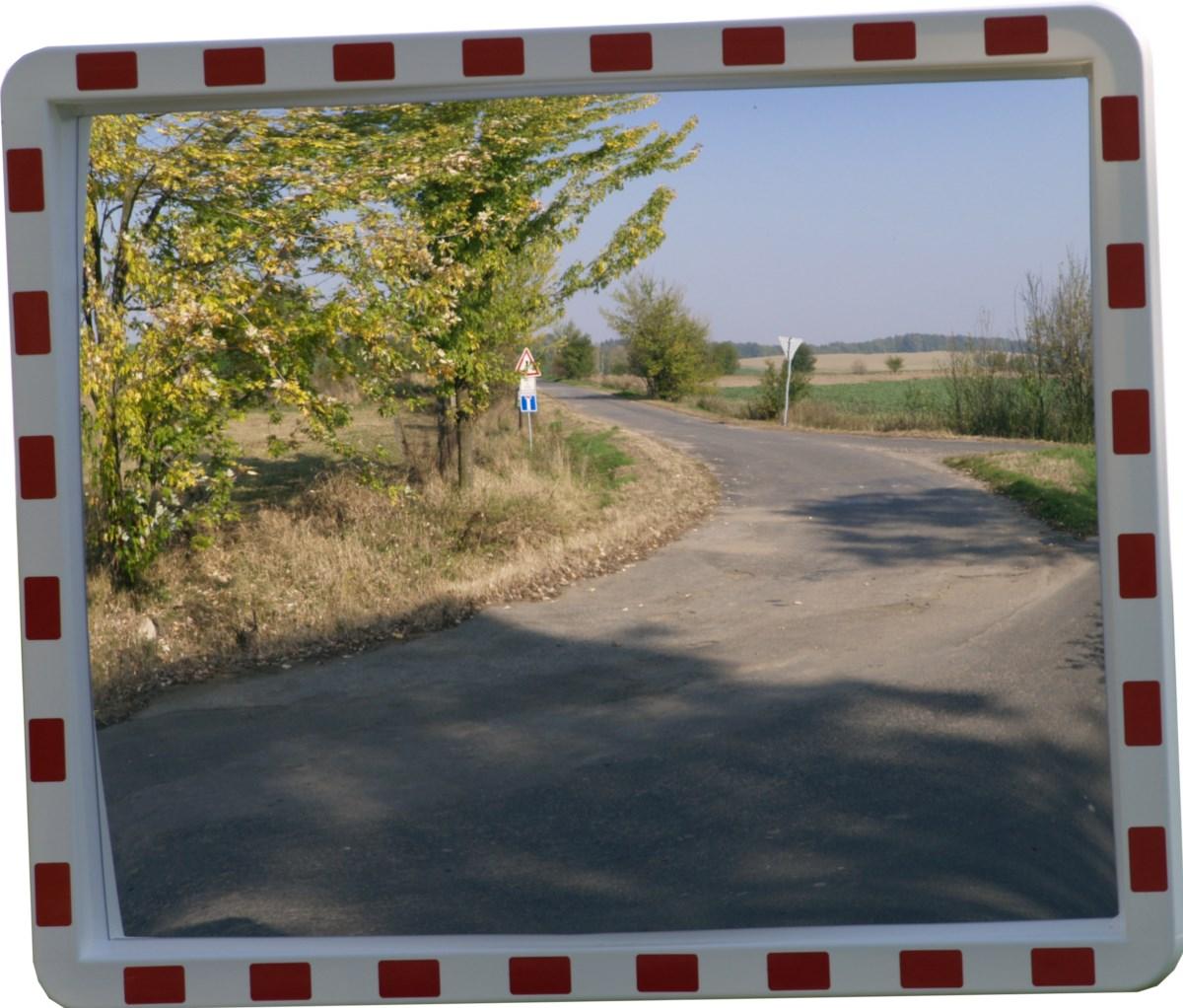 Dopravní zrcadlo obdélníkové 1000 x 800 mm