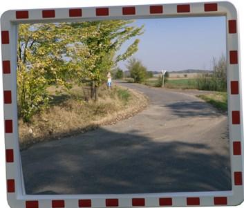 Dopravní zrcadlo obdélníkové