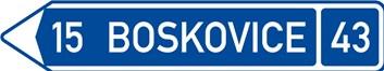 Dopravní značka IS3c - Směrová tabule (s jedním cílem)