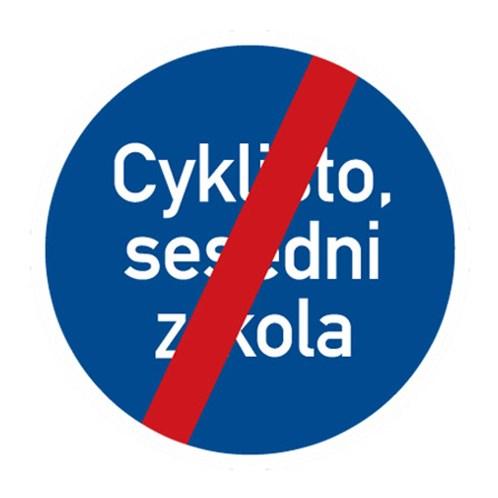 Dopravní značka - Konec jiného příkazu