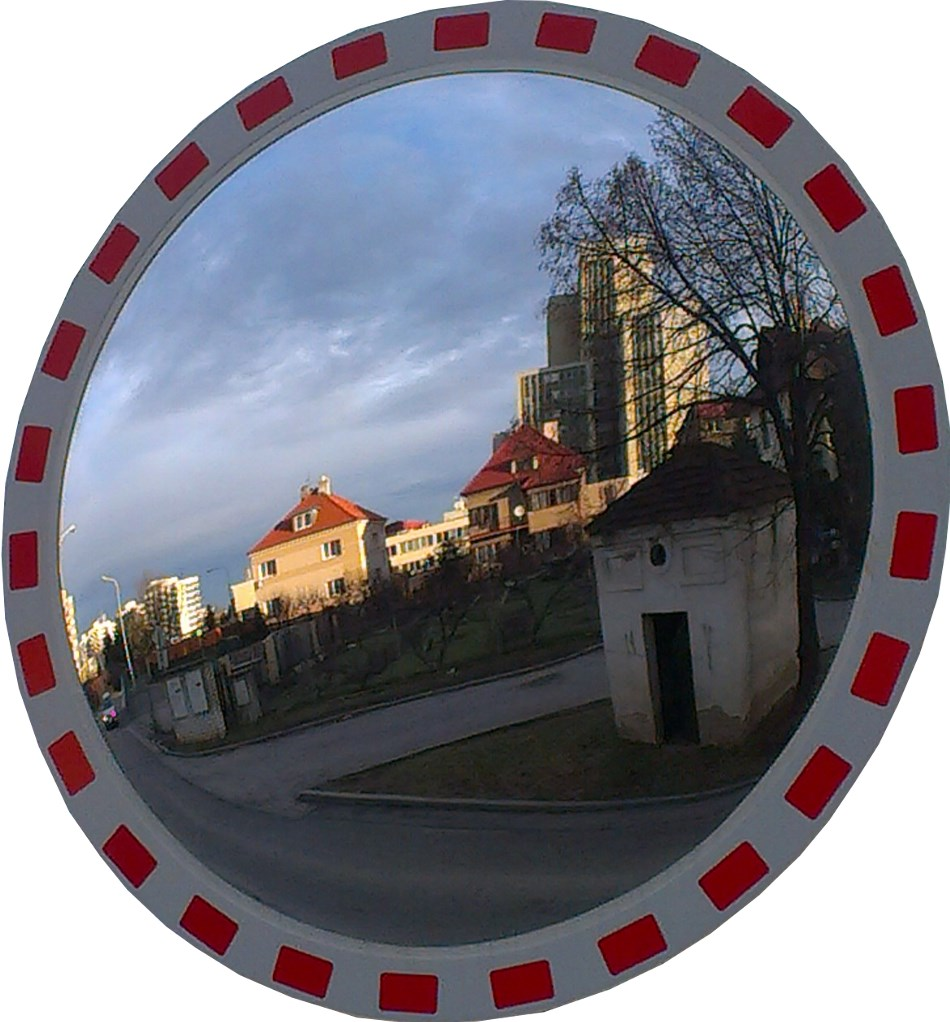 Dopravní zrcadlo kruhové 900 mm. Certifikováno pro pozemní komunikace Ministerstvem dopravy,