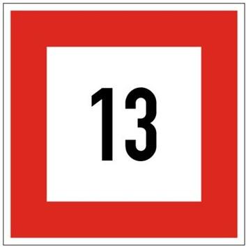 Plavební znak B6 - Příkaz nepřekračovat stanovenou rychlost (v km/h)