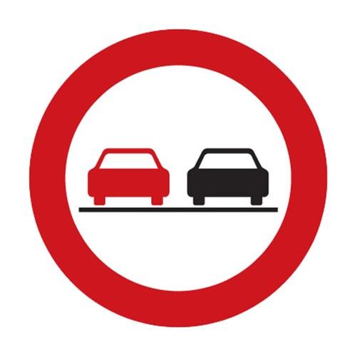 Dopravní značka - Zákazová - Zákaz předjíždění, B21a