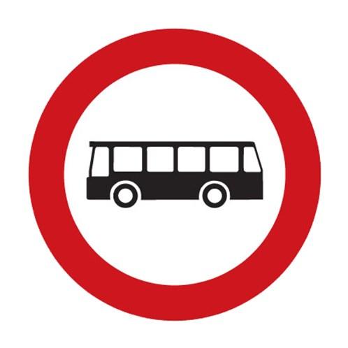 Dopravní značka - Zákaz vjezdu autobusů