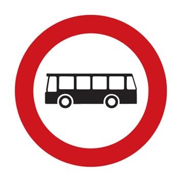 Dopravní značka B5 - Zákaz vjezdu autobusů