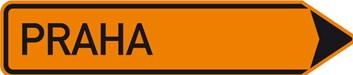 Dopravní značka IS11b - Směrová tabule pro vyznačení objížďky