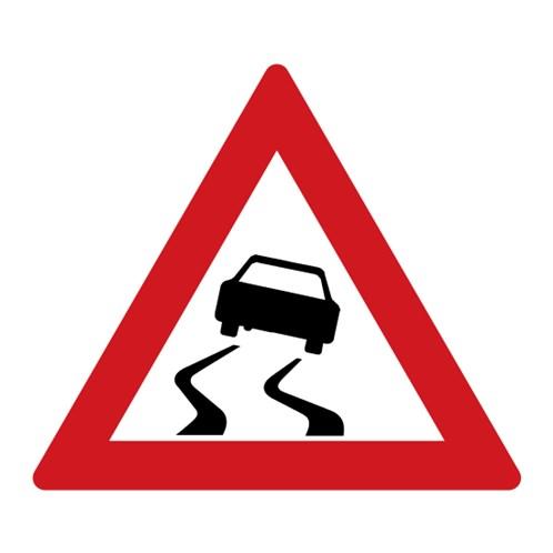 Dopravní značka - Nebezpečí smyku