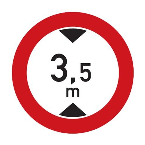 Dopravní značka - Zákaz vjezdu vozidel, jejichž výška přesahuje vyznačenou mez