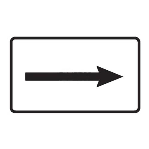 Dopravní značka -Dodatková tabulka -Směrová šipka, E7b, 500 x 300mm