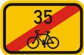 Cyklo značka IS21d - Směrová tabulka pro cyklisty