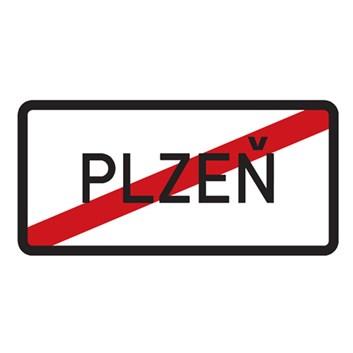 Dopravní značka IZ4b - Konec obce