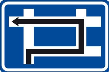 Dopravní značka IS9e - Návěst před křižovatkou