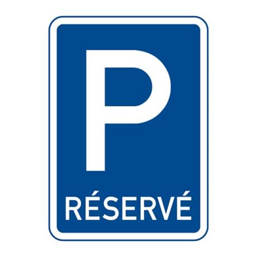 Dopravní značka - Vyhrazené parkoviště, 500 x 700mm