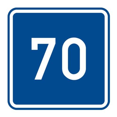 Dopravní značka - Doporučená rychlost