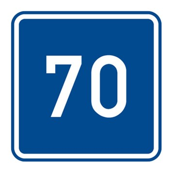 Dopravní značka IP5 - Doporučená rychlost