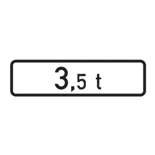 Dopravní značka - Dodatková tabulka - Celková hmotnost, E5, 500 x 150mm