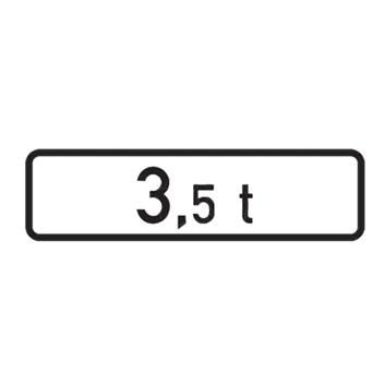 Dopravní značka E5 - Celková hmotnost