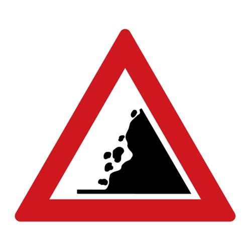 Dopravní značka - Padající kamení