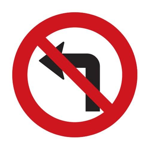 Dopravní značka - Zákaz odbočování vlevo