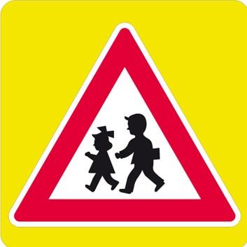 Dopravní značka A12b - Děti, zvýrazněná