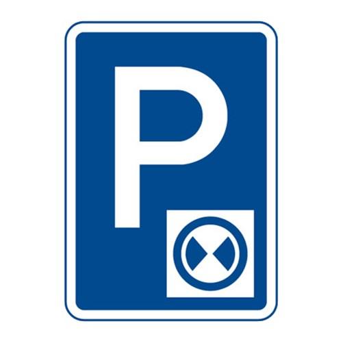 Dopravní značka - Parkoviště s parkovacím kotoučem, 500 x 700mm