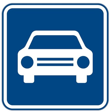 Dopravní značka IZ2a - Silnice pro motorová vozidla