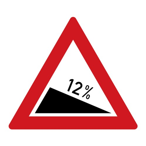 Dopravní značka - Nebezpečné klesání