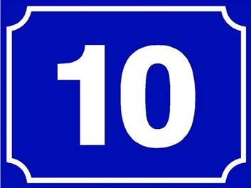 Tabule s číslem orientačním