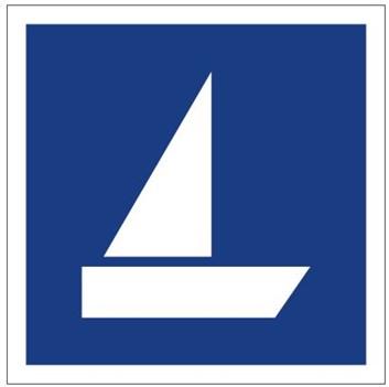 Plavební znak E18 - Plavba plachetnic povolena