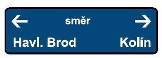 Železniční značka - Označení směru jízdy