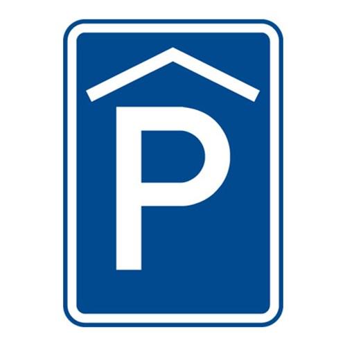 Dopravní značka - Kryté parkoviště, 500 x 700mm