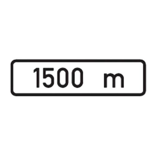 Dopravní značka - Dodatková tabulka - Vzdálenost, E3a, 500 x 150mm
