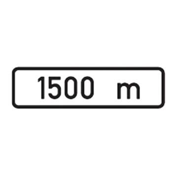 Dopravní značka E3a - Vzdálenost, 500 x 150mm