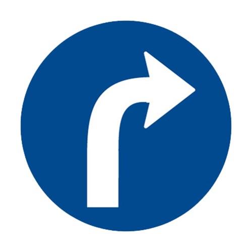 Dopravní značka - Přikázaný směr jízdy vpravo, 500mm