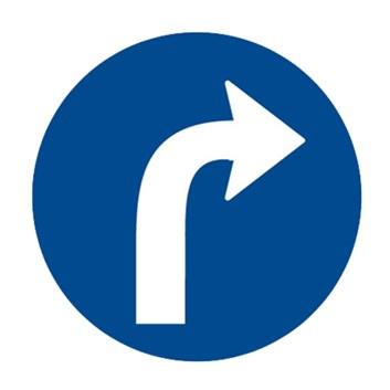 Dopravní značka C2b - Přikázaný směr jízdy vpravo